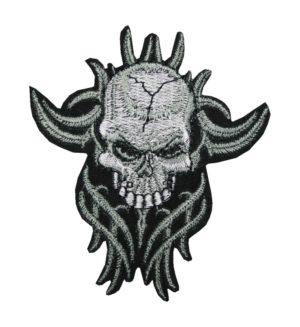 Aufnäher Bügelbild Aufbügler Schädel Skull 85x95mm (1137)