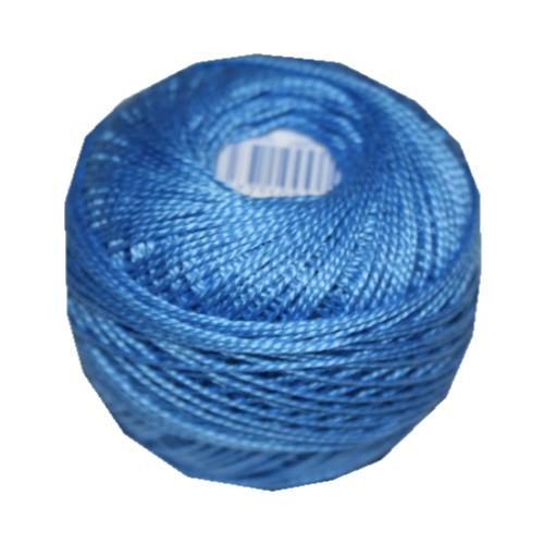 PERLOVKA Kreuzstichgarn Baumwolle Perlgarn 10g 85m blau (5552)