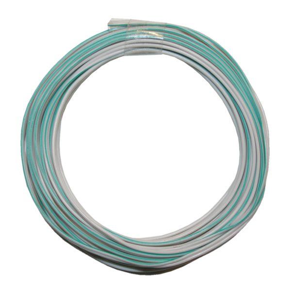 Kabelring Kabel 2*0,14mm 5m weiß grün (0005)