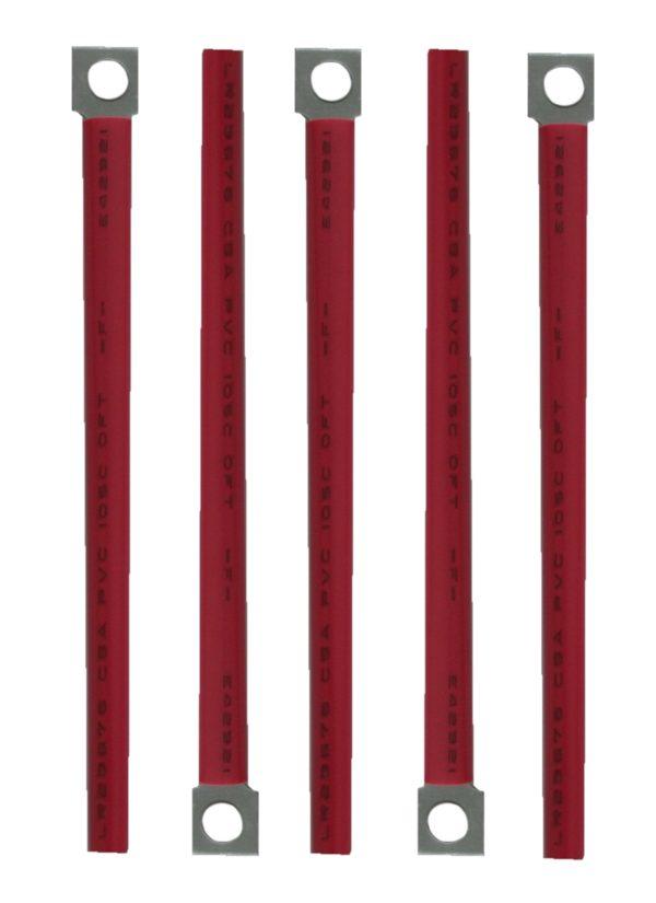 Kabelhalter Blechlasche universal flexibel rot 5 Stück (0008)