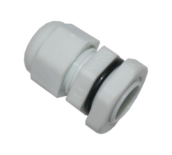Kabelverschraubung M16 mit Mutter und O-Ring weiß (0009)