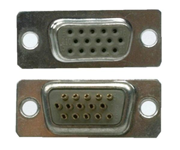 D-Sub Stecker 15 polig weiblich Lötanschluss (0225)