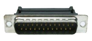 D-Sub Stecker 25 polig männlich für Flachkabel (0227)