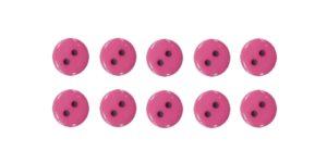 Knopf Knöpfe 10mm 2 loch pink 10 Stück (0108)