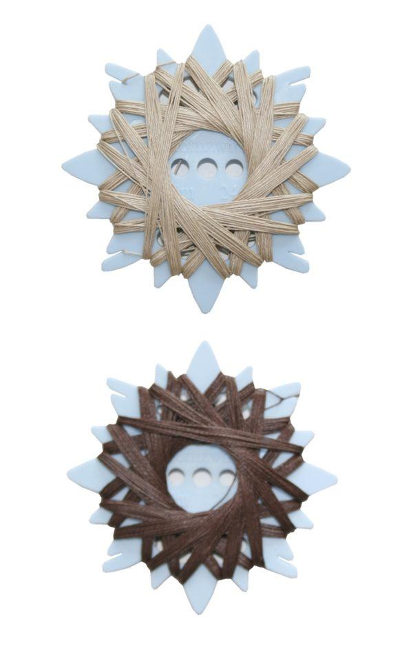 Sternzwirn Ramie extra stark 24/3 20m beige braun 2 Stück (0003)