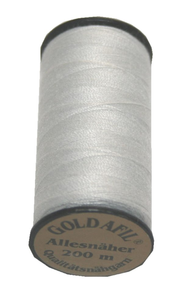 Nähmaschinen Nähgarn Polyester 40/2Ne silbergrau 200m (1002)