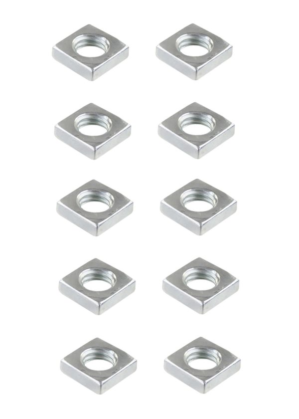 Vierkantmutter Mutter M3 Stahl verzinkt DIN 562 10 Stück (0189)