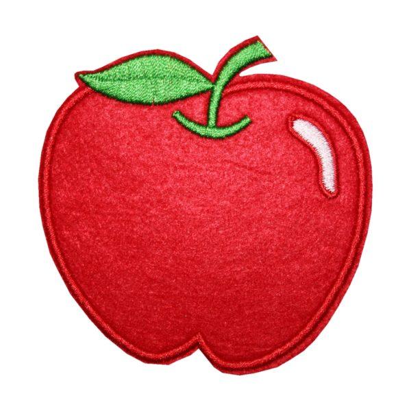 Aufnäher Bügelbild Aufbügler Apfel 80x80 mm rot (1143)