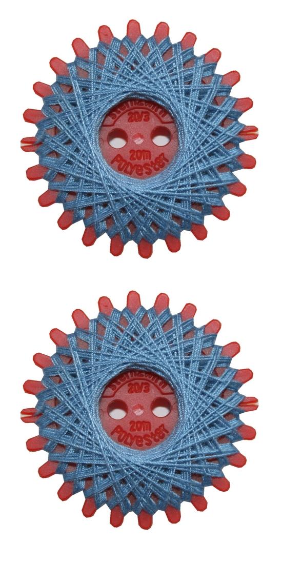 Sternzwirn Polyester 20/3 20m blau 2 Stück (1017)