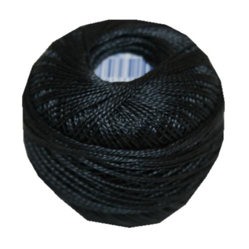 PERLOVKA Kreuzstichgarn Baumwolle Perlgarn 10g 85m schwarz grau (8872)