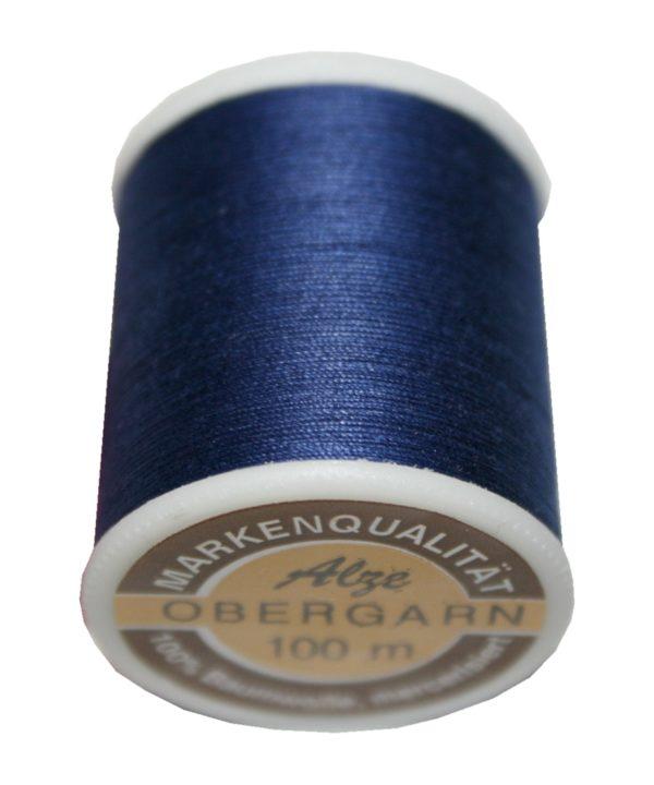 Nähmaschinen Obergarn Nähgarn 100m Baumwolle 50/3 blau dark stone (1027)