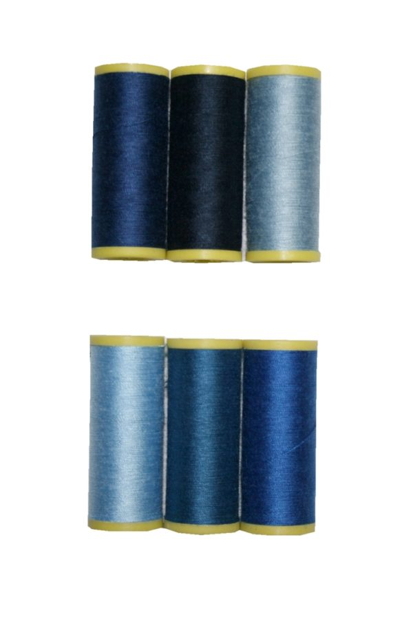 Nähmaschinen Nähgarn 6 Rollen je 100 m Polyester 40/2 (0036)