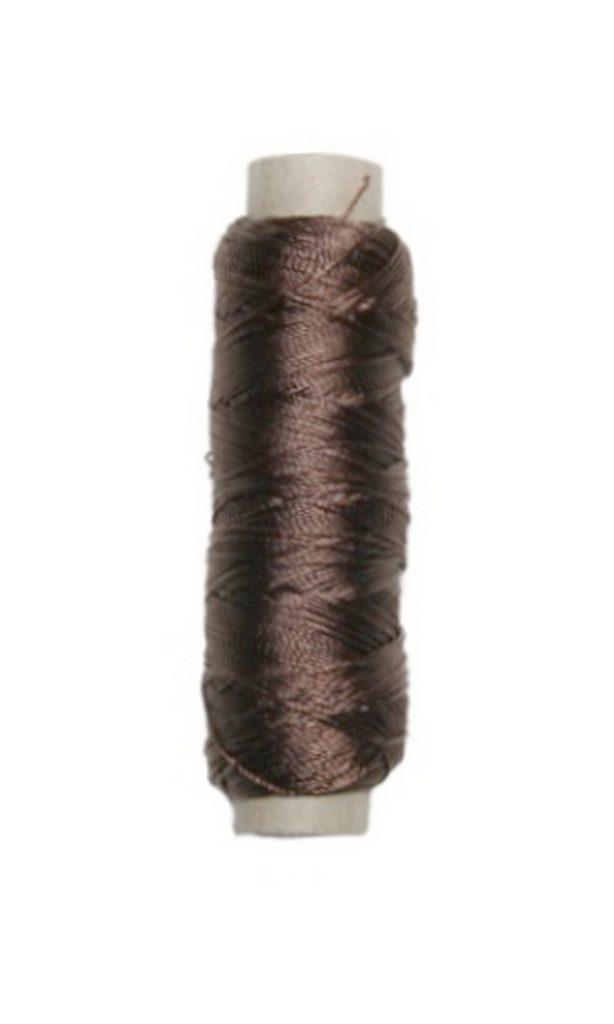 Sattlergarn Zwirn 14x2x3 Polyester 50 m braun Ø 0,3mm (5058)