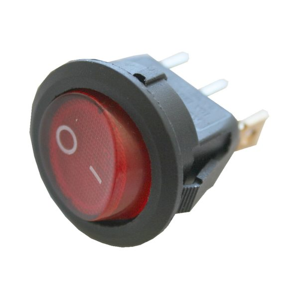 Wippschalter Schalter rund mit Beleuchtung 1xON-OFF (0000)