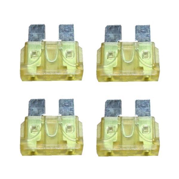 KFZ-Flachsicherung Sicherung 20A gelb 4 Stück (0029)