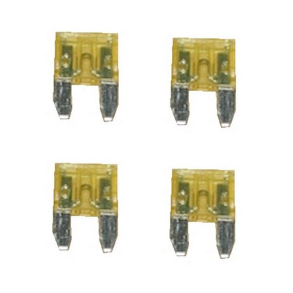 KFZ-Flachsicherung mini Sicherung 20A gelb 4 Stück (0037)