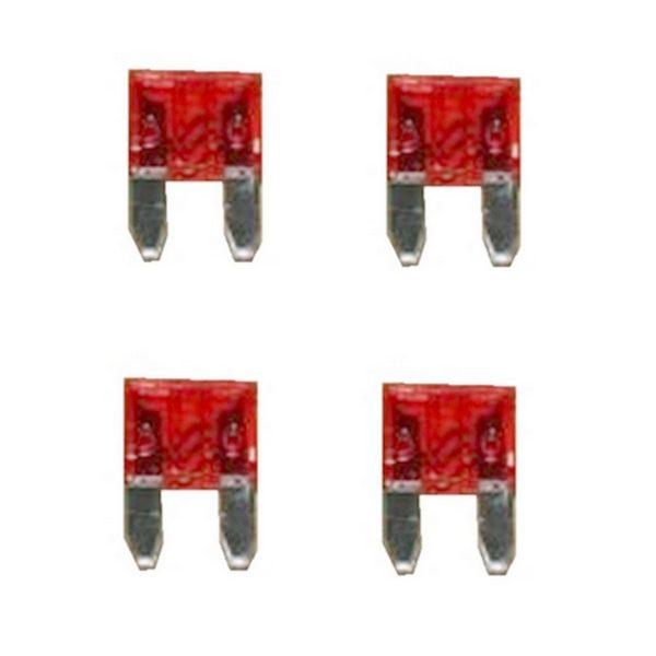 KFZ-Flachsicherung mini Sicherung 10A rot 4 Stück (0039)