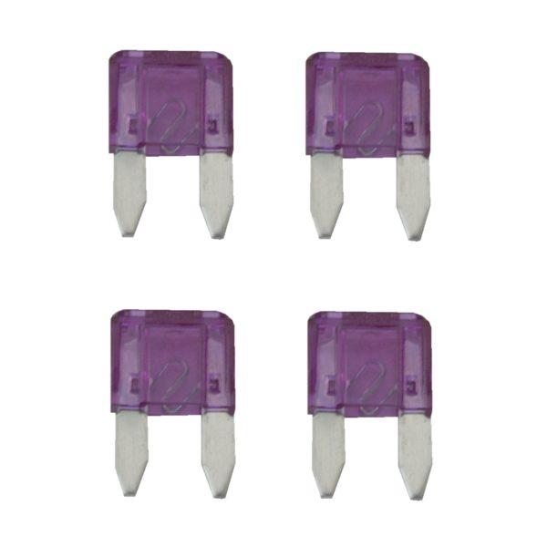 KFZ-Flachsicherung mini Sicherung 3A lila 4 Stück (0042)