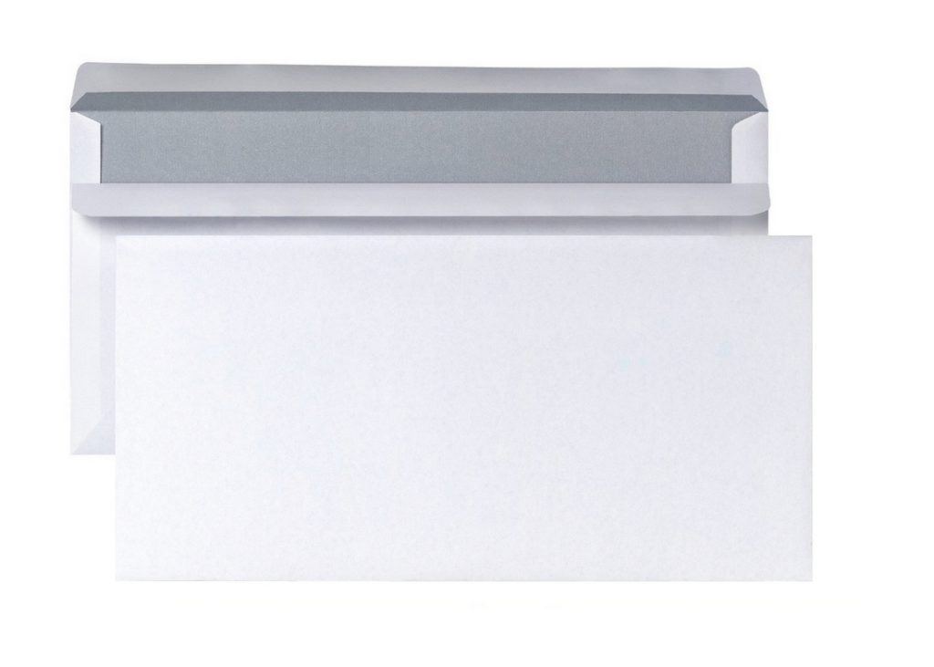 Briefumschlag Kompaktbriefhülle ohne Fenster 125x235mm 80g weiß 10 Stück (0128)