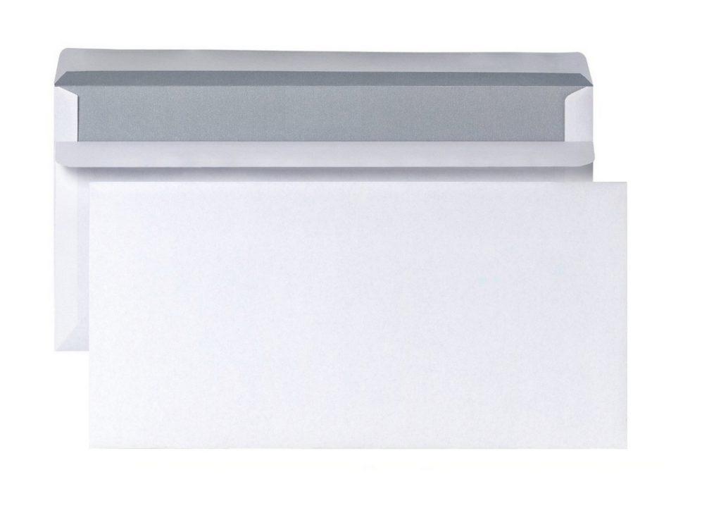 Briefumschlag Kompaktbriefhülle ohne Fenster 125x235mm 80g weiß 20 Stück (0129)