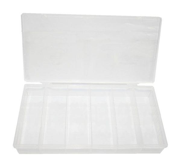 Sortimentkasten Sortimentbox 6 Fächer Kunststoff transparent (0172)