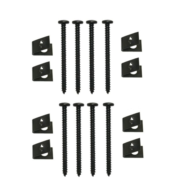 Blechschraube mit Klemm-Mutter 4x48 schwarz 8 Stück (0175)