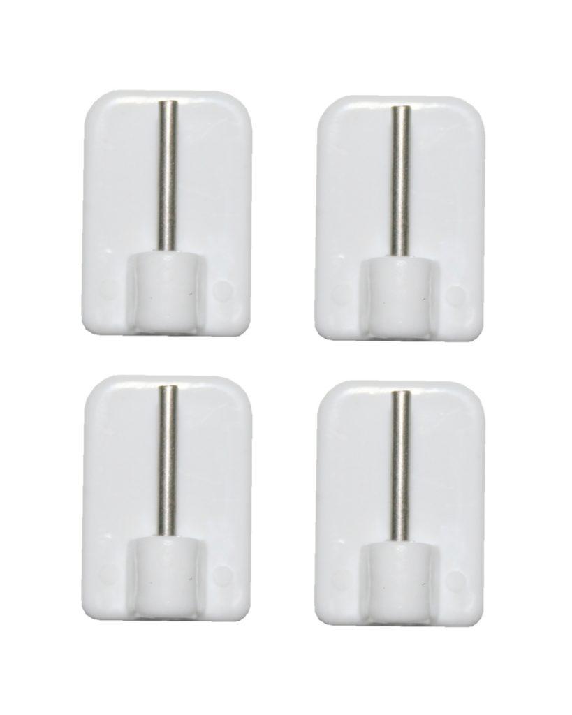 Gardinenhaken Klebehaken für Scheibenstange weiß 4 Stück (0188)