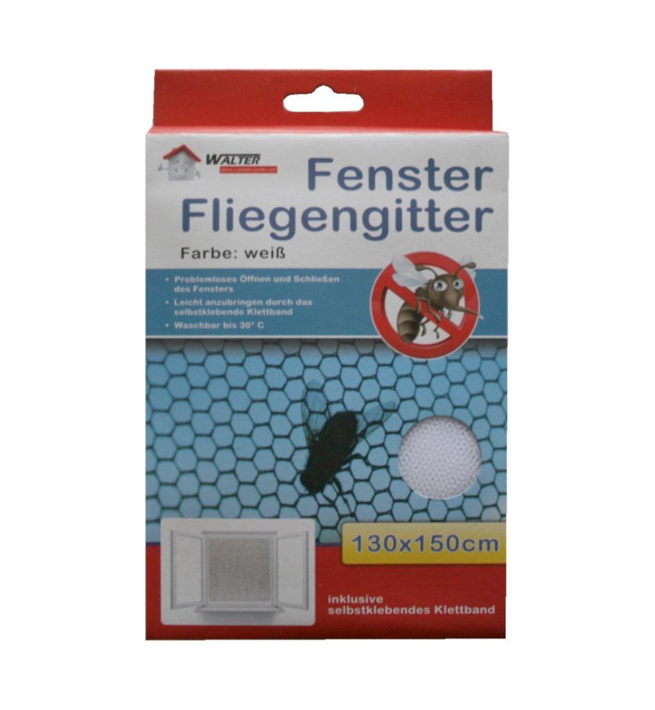 Insektenschutzgitter Fliegennetz Fliegengitter weiß 130x150cm (0191)