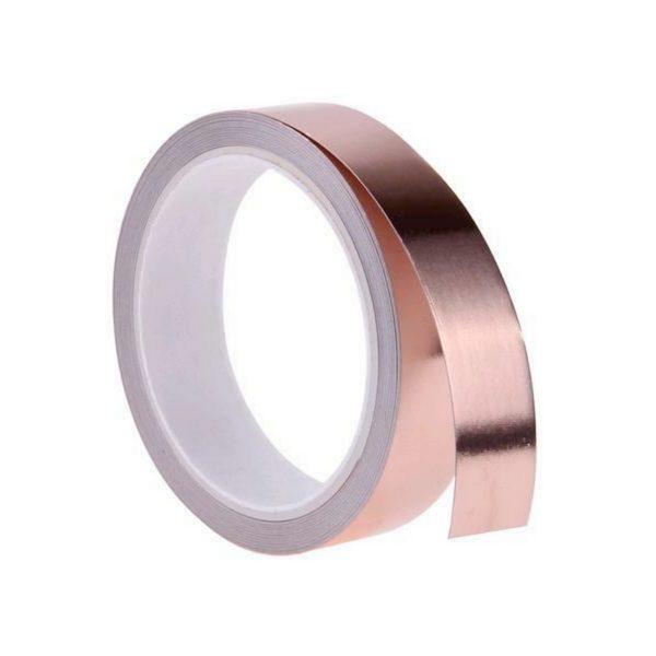 Kupferband 25mm x 4m selbstklebend Kupferfolie Schnecken (0265)
