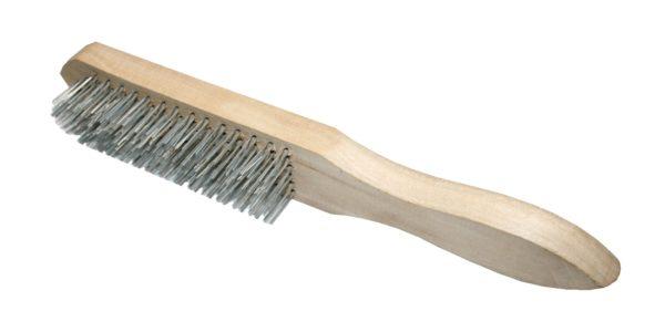 Drahtbürste mit Holzgriff Stahl 6-reihig 280mm (0293)