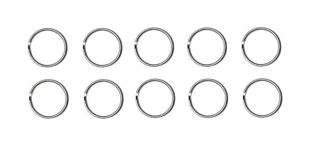 Schlüsselring 25mm Metallring Spaltring 10 Stück (0297)