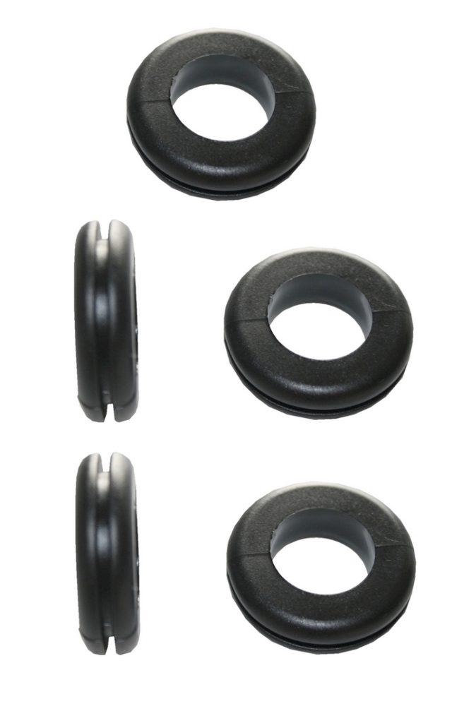 Durchgangstüllen Kabeldurchführung Kabeldurchlass 10mm schwarz 5 Stück (0301)