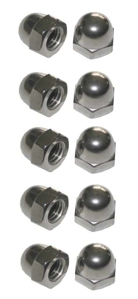 Hutmuttern Hutmutter Sechskant verzinkt M4 10 Stück (0013)