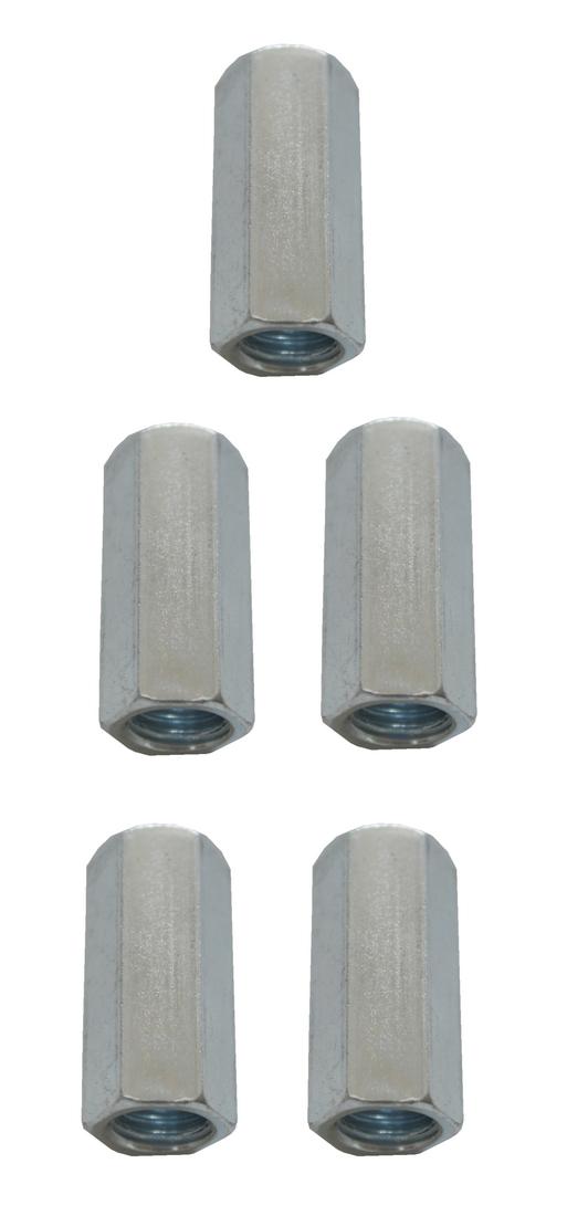 Verbindungsmuttern Distanzmuttern Sechskant verzinkt M10x30mm 5 Stück (0074)