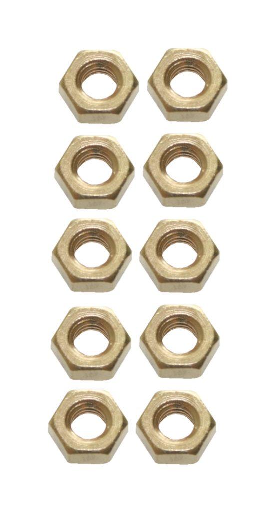 Sechskantmutter M4 Messing DIN 934 10 Stück (0098)