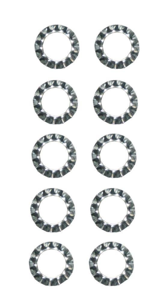 Zahnscheibe Sicherungsscheibe verzinkt 13,8x8,4mm 10 Stück (0124)