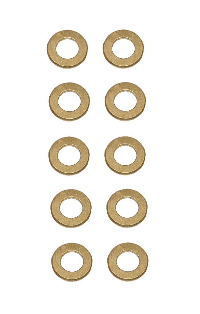 Unterlegscheibe Unterlegscheiben Messing 4,3 mm DIN125 10 Stück (0141)