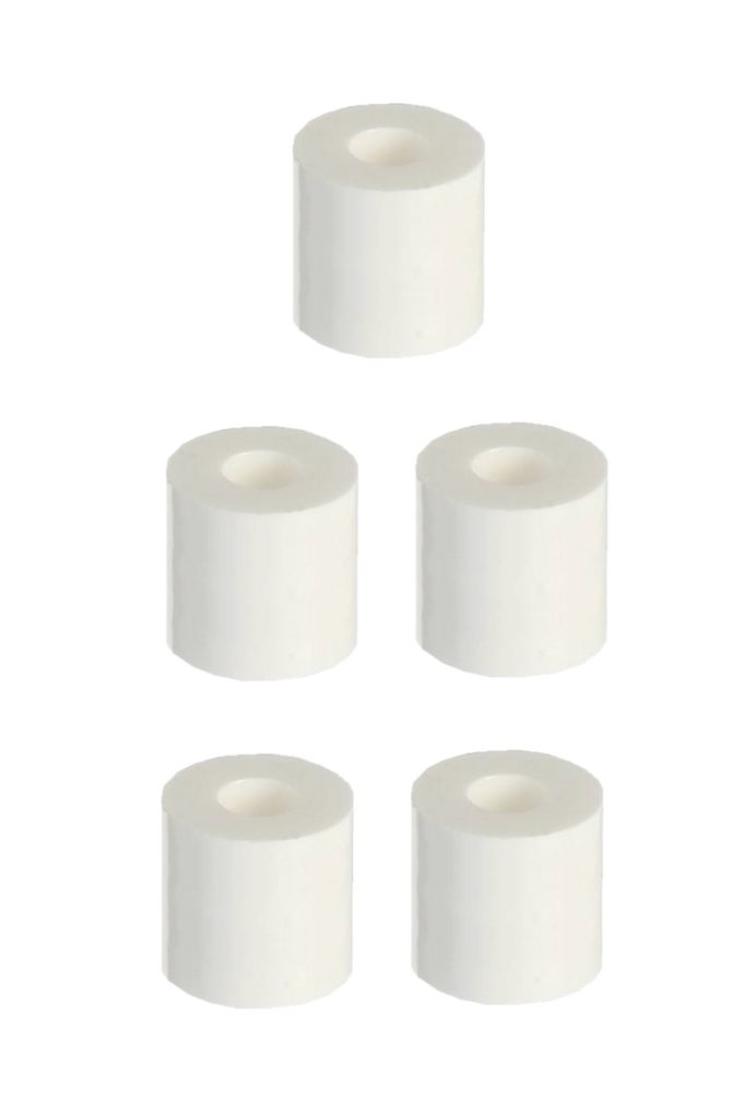 Distanzhülse Abstandshalter Abstandshülse M4x7x10mm weiß 5 Stück (0153)