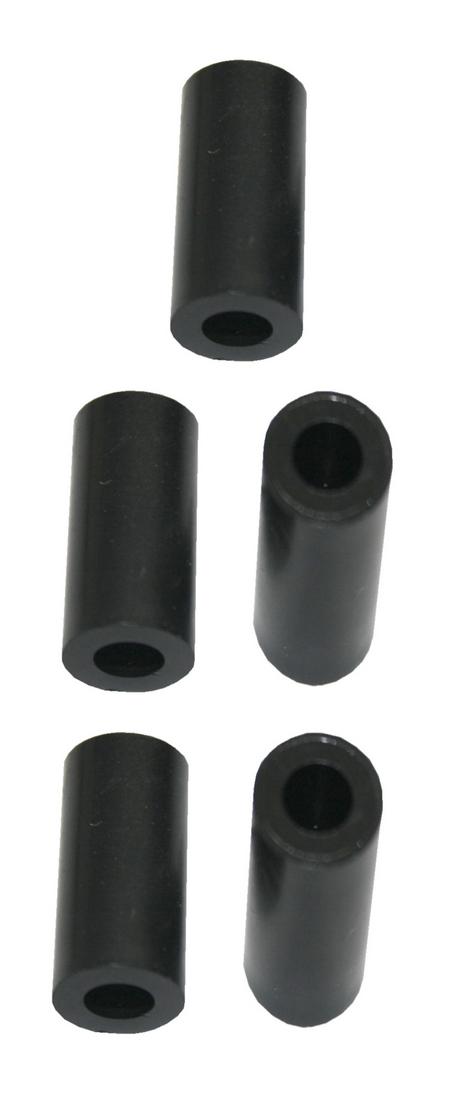 Distanzhülse Abstandshalter Abstandshülse M6x10x20mm schwarz 5 Stück (0200)