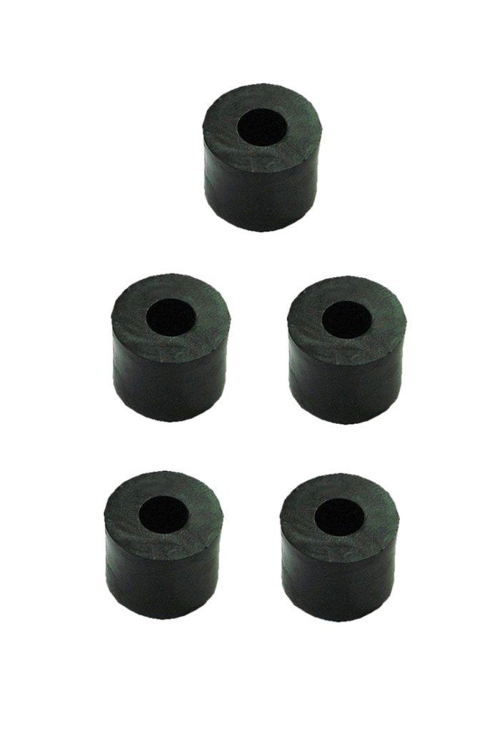 Distanzhülse Abstandshalter Abstandshülse M6x10x10mm schwarz 5 Stück (0201)