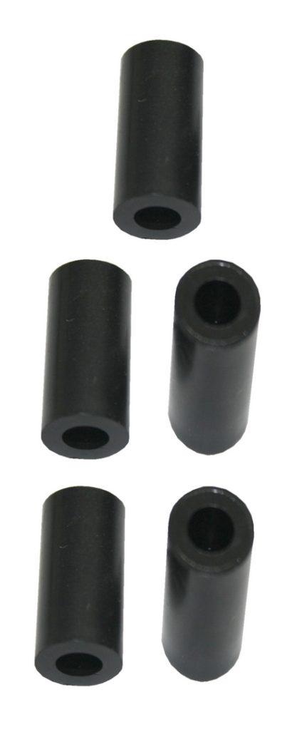 Distanzhülse Abstandshalter Abstandshülse M6x10x12,5mm schwarz 5 Stück (0206)