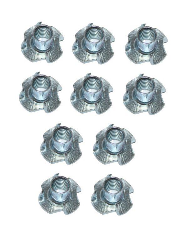 Einschlagmuttern M4 Einpressmuttern Stahl verzinkt 10 Stück (0224)