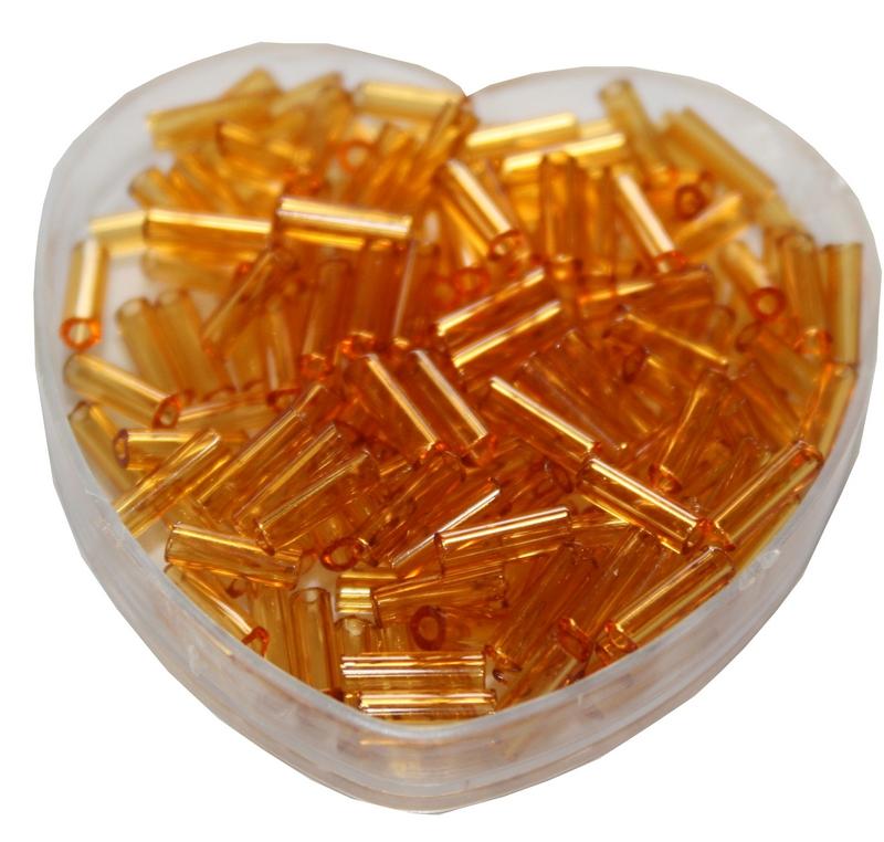 Stiftperlen Glasperlen Stäbchenperlen aus Glas 7mm brenstein braun (0110)