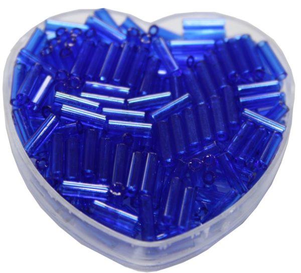 Stiftperlen Glasperlen Stäbchenperlen aus Glas 7mm blau marine (0112)