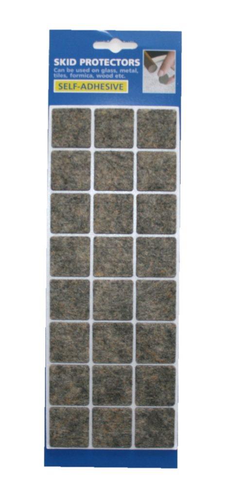 Filzgleiter Möbelgleiter Stuhlgleiter selbstklebend grau meliert (0059)