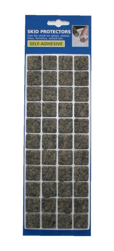 Filzgleiter Möbelgleiter Stuhlgleiter selbstklebend grau meliert (0064)