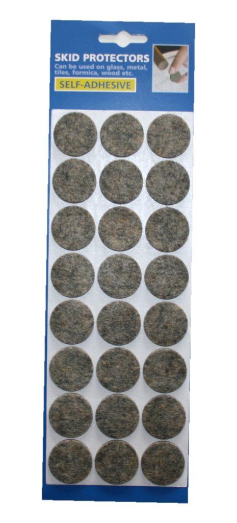 Filzgleiter Möbelgleiter Stuhlgleiter selbstklebend grau meliert (0071)