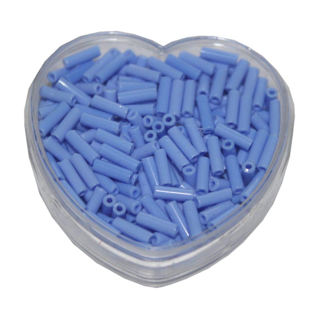 Stiftperlen Glasperlen Stäbchenperlen aus Glas 7mm blau (0101)