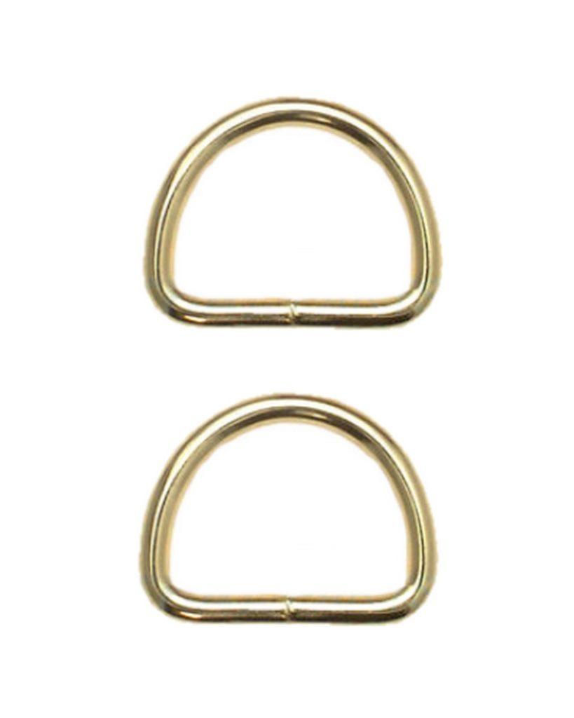 Halbring D-Ring 25mm gold 2 Stück (0117)