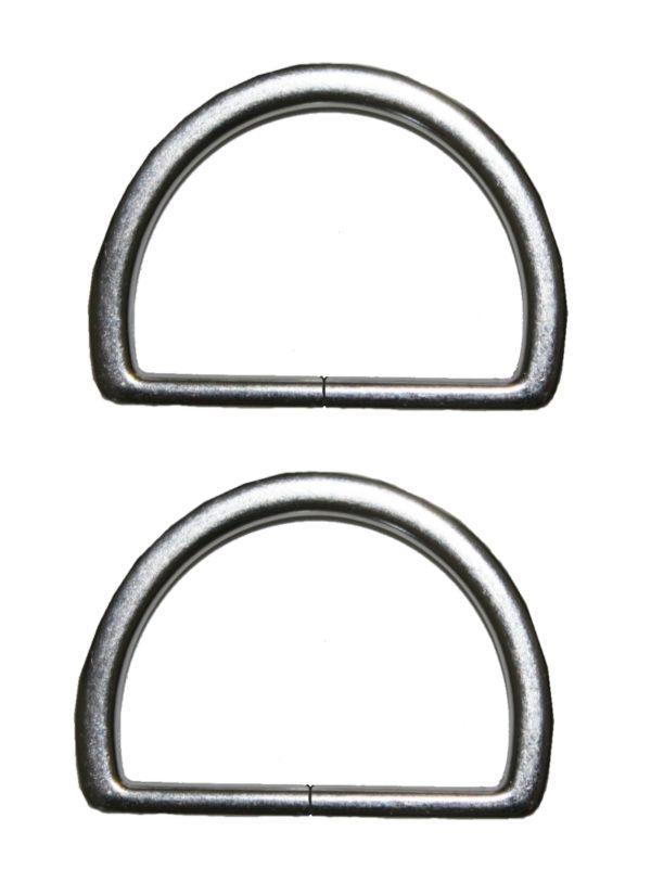 Halbring D-Ring 50mm silber 2 Stück (0121)